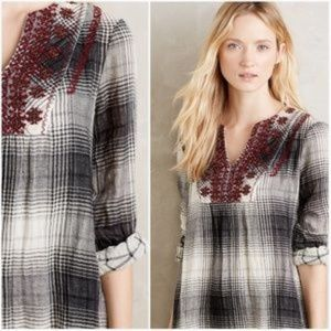 Floreat Anthropologie plaid tunic
